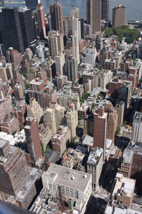 Les toits vues d'en haut